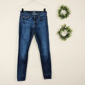 7 For All Mankind | The Skinny Medium Wash Jean 28
